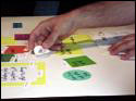 User being creative through participatory design exercises