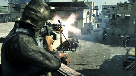 Call of Duty 4's initial levels include tasks to familarize the player with weapons and actions