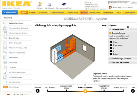 Plan your dream kitchen at Ikea with your kitchen's dimensions