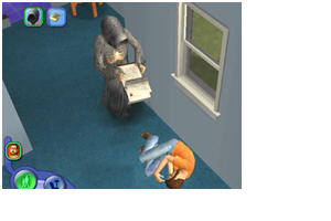 The Sims 2 injects unexpected humor into what is actually an annoying situation