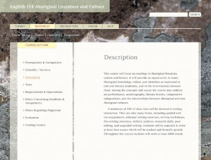 Screen grab of the learning resource