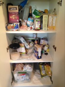 A pantry with no taxonomy in place.