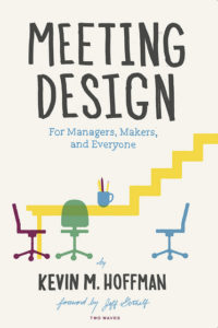 Image of the cover of the book, showing chairs around a conference table that is a flat, level surface on the left but turns into rising stairs on the right.